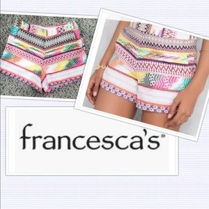 ⭐️HP⭐️Francesca's Quinn tribal high waist shorts